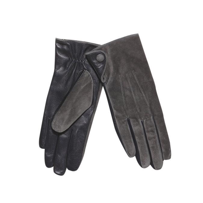 Kožené dámske rukavice bata, šedá, 903-2101 - 13