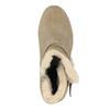Členková obuv s kožúškom bata, šedá, 793-2600 - 19