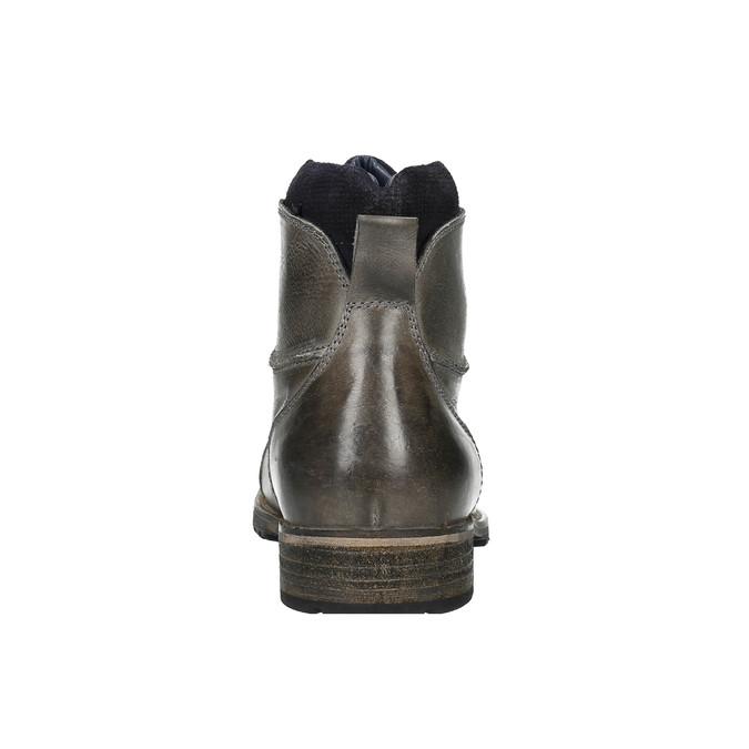 Pánska kožená obuv bata, šedá, 894-2650 - 17