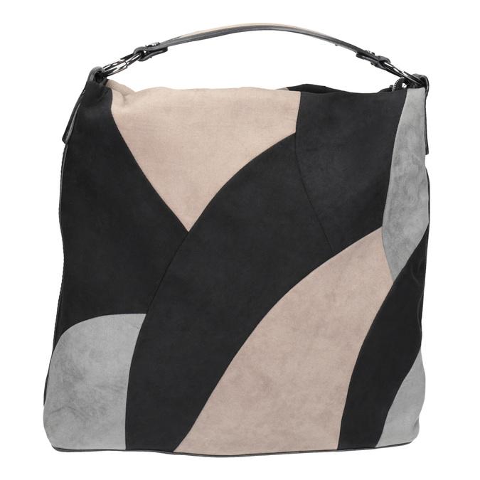 Kabelka v štýle Hobo Bag bata, čierna, 969-6231 - 26