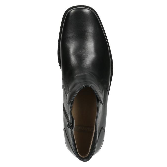 Kožená členková obuv so zateplením bata, čierna, 894-6641 - 26