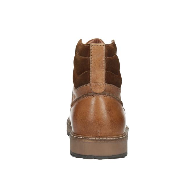 Kožená členková obuv pánska bata, hnedá, 894-3658 - 17