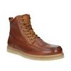 Kožená členková obuv pánska bata, hnedá, 896-3652 - 13
