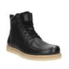 Pánska kožená členková obuv bata, čierna, 896-6652 - 13