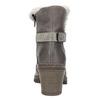 Kožená členková obuv s kožúškom manas, šedá, 696-2602 - 17