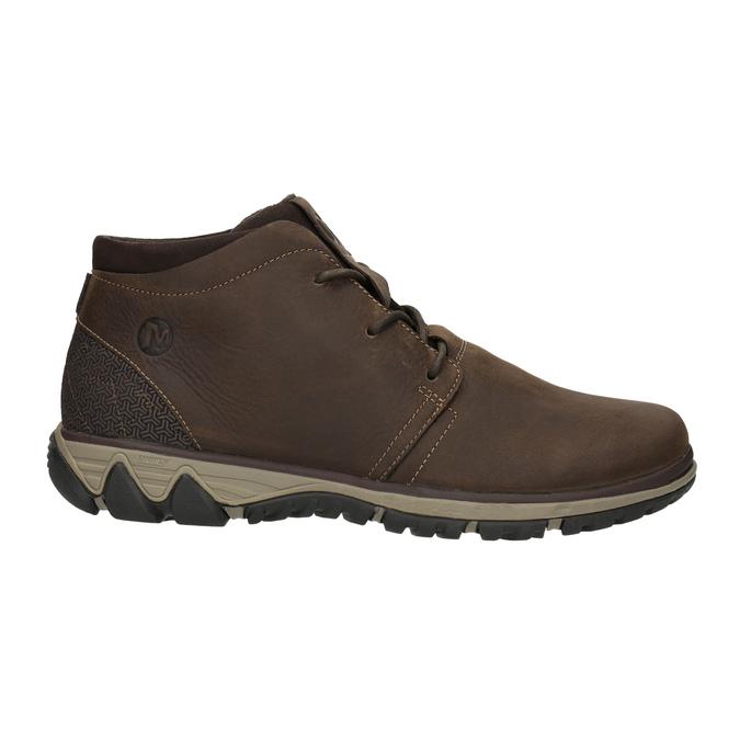 Pánska kožená členková obuv merrell, hnedá, 806-4842 - 15