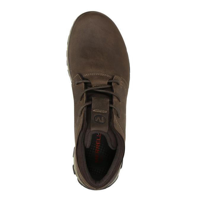 Pánska kožená členková obuv merrell, hnedá, 806-4842 - 19