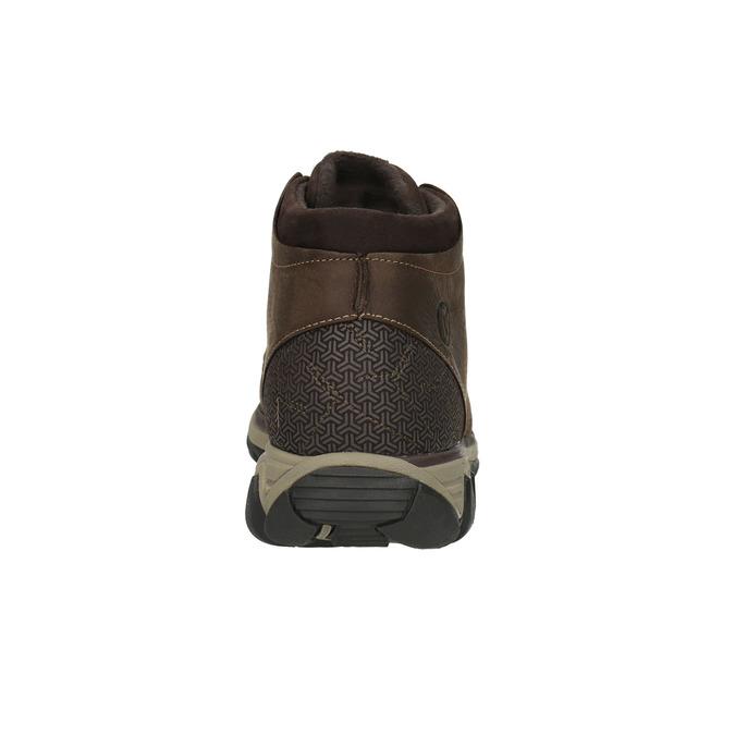 Pánska kožená členková obuv merrell, hnedá, 806-4842 - 17