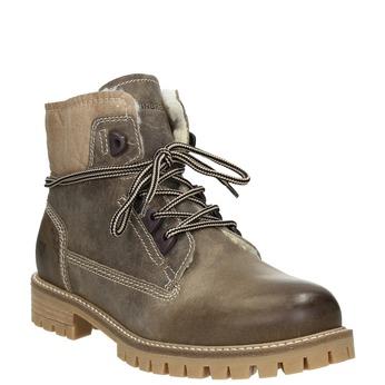 Kožená zimná obuv s kožúškom weinbrenner, šedá, 594-2491 - 13