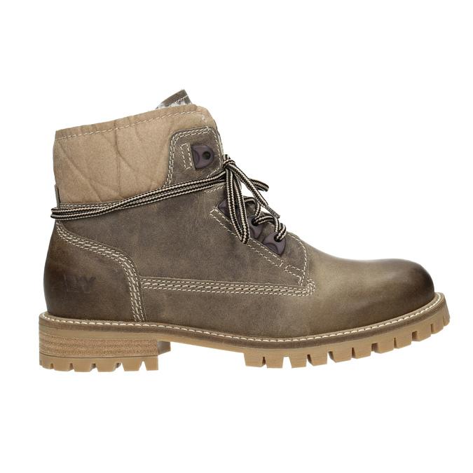 Kožená zimná obuv s kožúškom weinbrenner, šedá, 594-2491 - 26