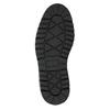 Kožená zimná obuv s károvaným detailom bata, hnedá, 896-4650 - 26