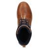 Kožená členková obuv na ležérnej podrážke bata, hnedá, 894-3660 - 19