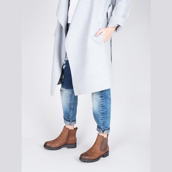 Dámska členková obuv bata, hnedá, 696-4606 - 18