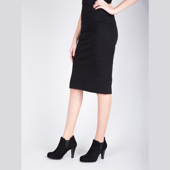 Dámska členková obuv na podpätku s pružnými bokmi bata, čierna, 799-6601 - 18