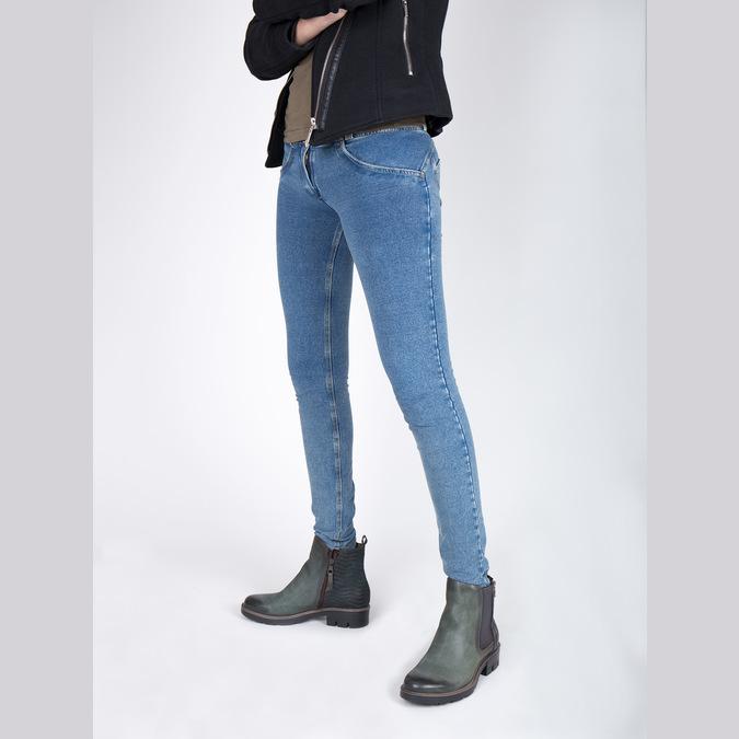 Kožená členková obuv na výraznej podrážke bata, 596-9615 - 18