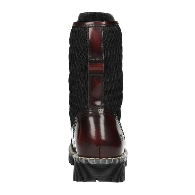 Kožená šnurovacia obuv na výraznej podrážke weinbrenner, červená, 596-5635 - 17