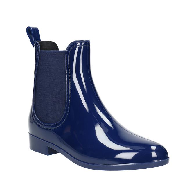 Dámske gumáky v štýle Chelsea bata, modrá, 592-9114 - 13
