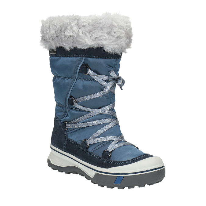 Detská zimná obuv s kožúškom weinbrenner, modrá, 499-9613 - 13