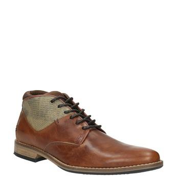 Hnedé kožené poltopánky bata, hnedá, 826-3735 - 13