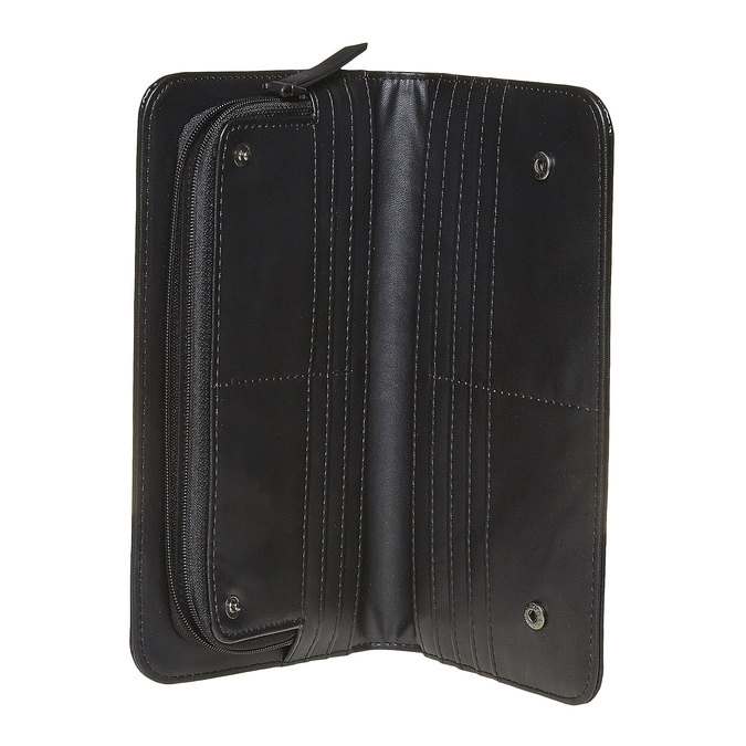 Dámska lakovaná peňaženka bata, čierna, 941-6144 - 15