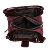 Vínová kabelka s lakovanými detailami bata, červená, 969-5209 - 15