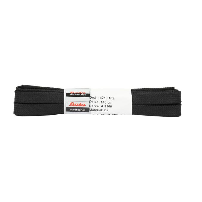 Široké čierne šnúrky bata, čierna, 901-6140 - 13