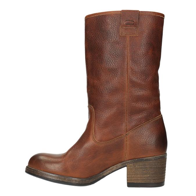 Kožené čižmy vo Western štýle bata, hnedá, 696-3607 - 19