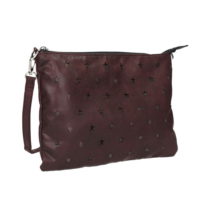 Kabelka v štýle listovej kabelky bata, fialová, 969-5631 - 13