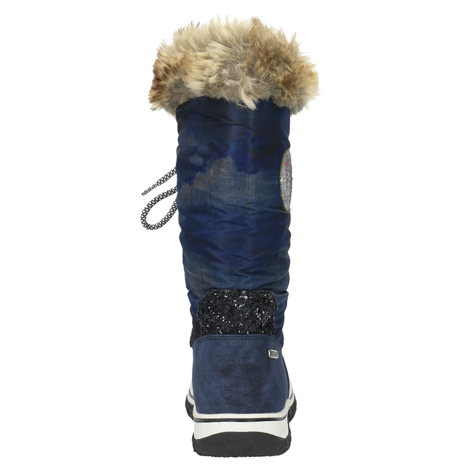 Štýlové snehule s kožúškom bata, modrá, 599-9609 - 17