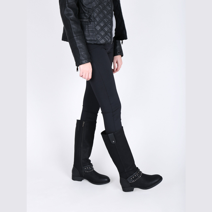 Dámske čižmy bata, čierna, 591-6611 - 18