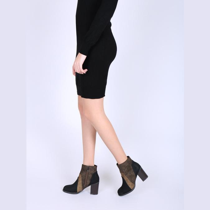 Členková obuv na širokom podpätku bata, hnedá, 799-3612 - 18