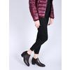 Kožená členková obuv na nízkom podpätku bata, červená, 696-5613 - 18