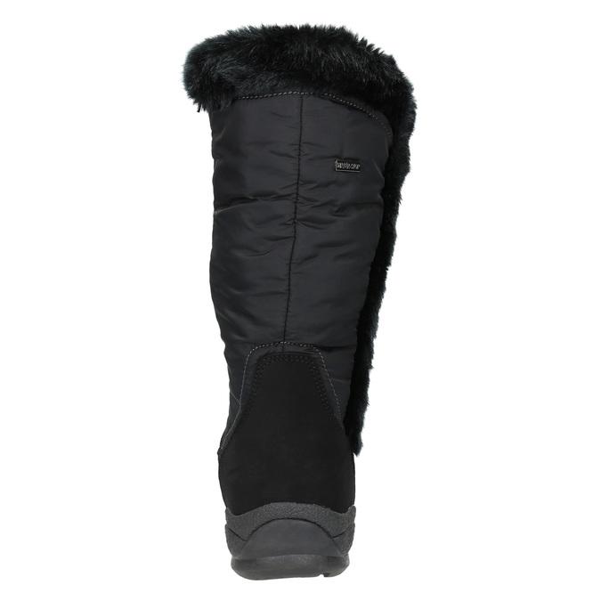 Čierne snehule s kožúškom bata, čierna, 599-6613 - 17