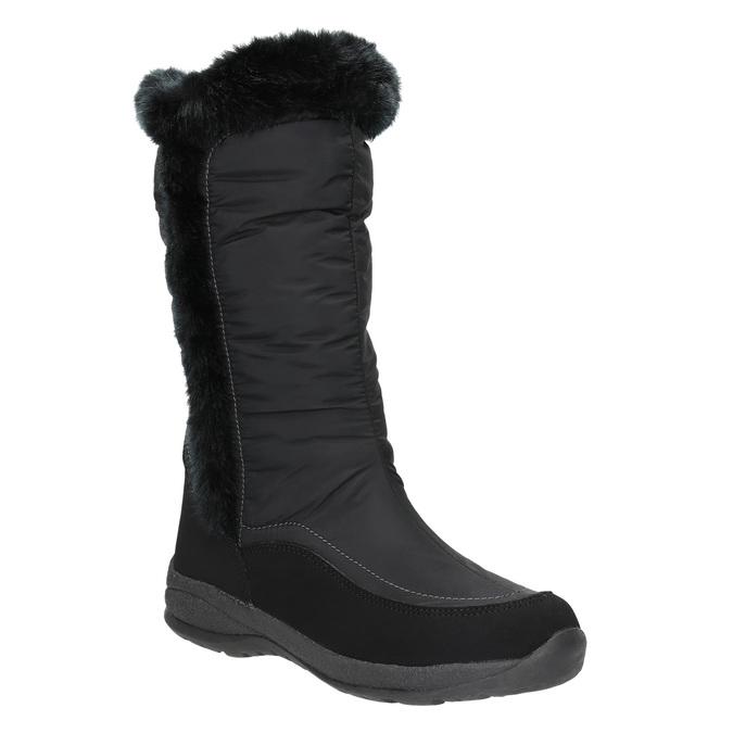 Čierne snehule s kožúškom bata, čierna, 599-6613 - 13