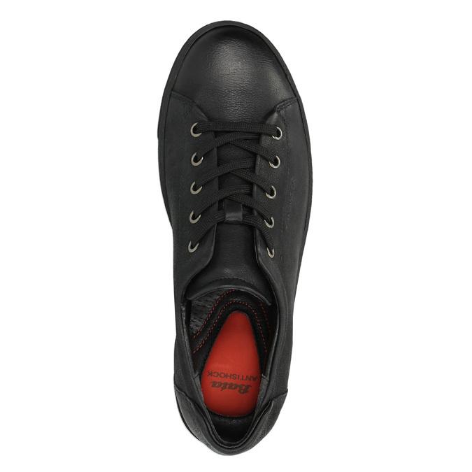 Dámske kožené tenisky bata, čierna, 524-6349 - 19