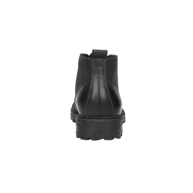Kožená členková obuv weinbrenner, čierna, 844-6603 - 17