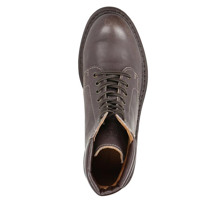 Dámska kožená členková obuv weinbrenner, hnedá, 596-4632 - 19