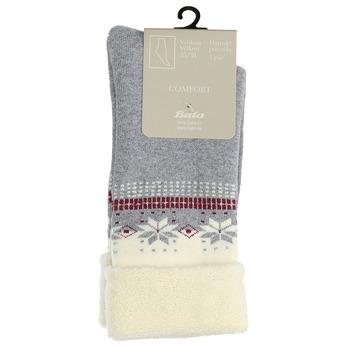 Teplé dámske ponožky bata, šedá, 919-2421 - 13