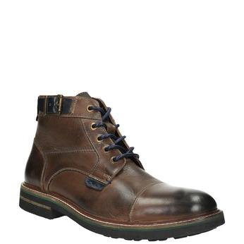 Pánska obuv s výraznou podrážkou bata, hnedá, 894-4651 - 13