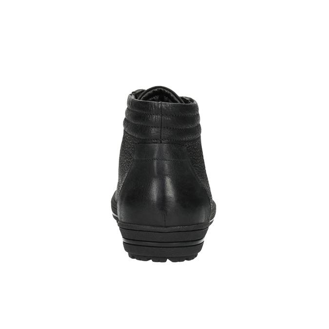 Dámske členkové tenisky bata, čierna, 594-6659 - 17