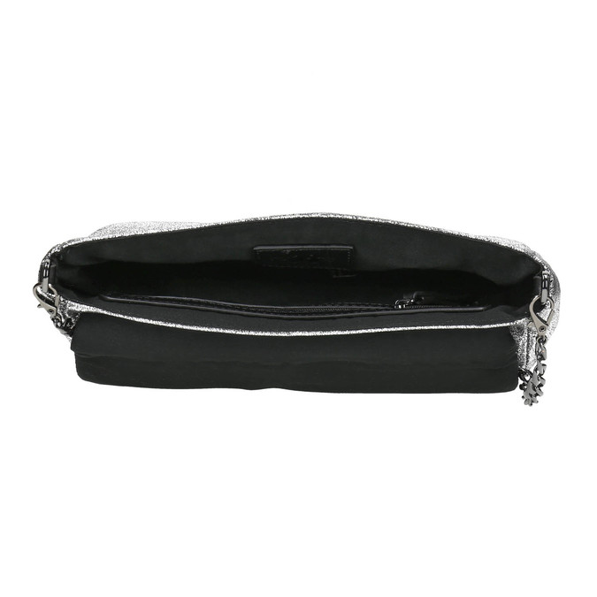 Dámska strieborná listová kabelka bata, strieborná, 969-1220 - 15