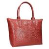 Dámska kožená kabelka červená bata, červená, 966-5201 - 13