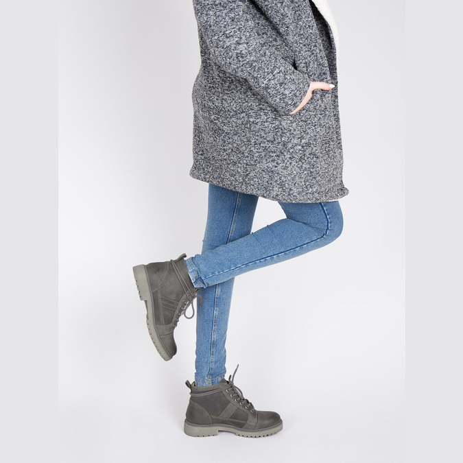 Dámska členková obuv weinbrenner, šedá, 594-2409 - 18