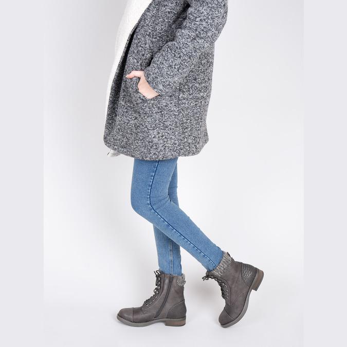 Dámska šnurovacia zimná obuv bata, šedá, 591-6606 - 18