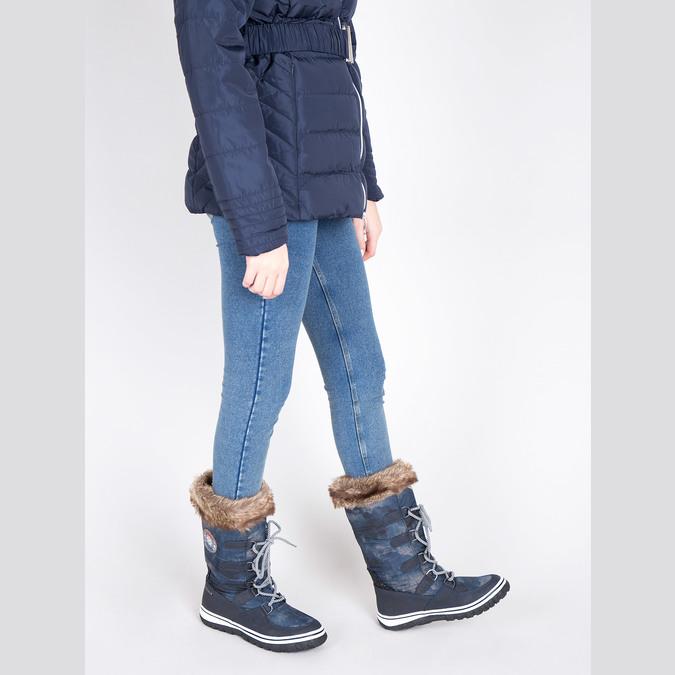 Štýlové snehule s kožúškom bata, modrá, 599-9609 - 18