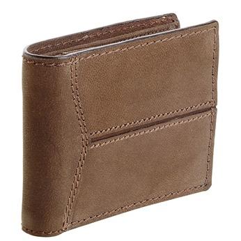 Pánska kožená peňaženka s prešívaním bata, hnedá, 944-8146 - 13