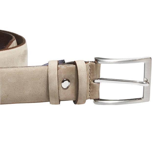 Pánsky kožený opasok bata, béžová, 954-8120 - 26