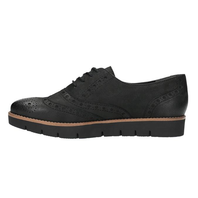 Dámske kožené poltopánky bata, čierna, 526-6600 - 26