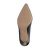 Čierne kožené lodičky s mäkkou stielkou bata, čierna, 624-6388 - 26