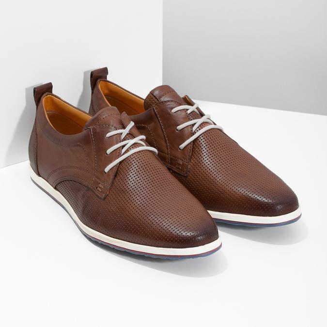 Ležérne kožené tenisky bata, hnedá, 824-4124 - 26